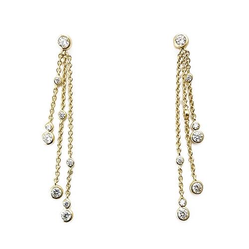 Σκουλαρίκια Χρυσά Κ14 με Ζιργκόν ΣΓ10004