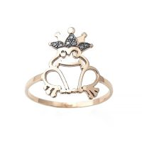 Δαχτυλίδι K14 Ροζ Χρυσό Πρίγκιπας Βάτραχος ΔΟ9525