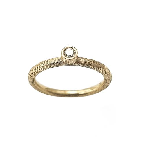 Δαχτυλίδι Μονόπετρο K18 Ροζ Χρυσό Mε Λευκό Μπριγιάν 0,10ct ΔΟ10901