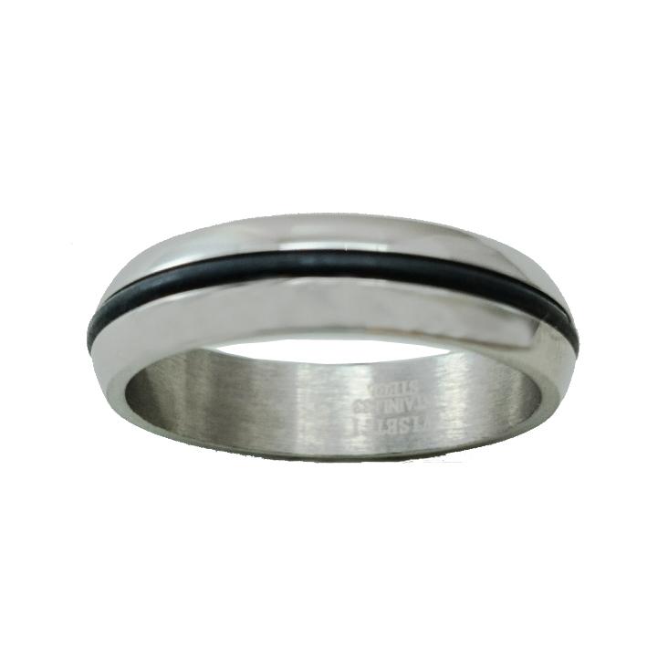 Δαχτυλίδι Ατσάλινο Με Καουτσούκ ΔΟ55000