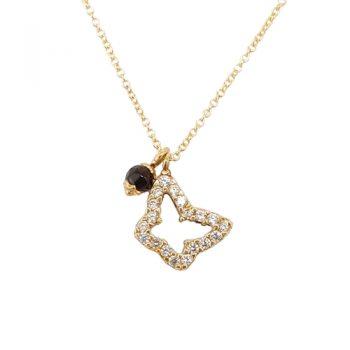 Κολιέ Χρυσό K14 Πεταλούδα Διπλής Όψης ΚΟ09504