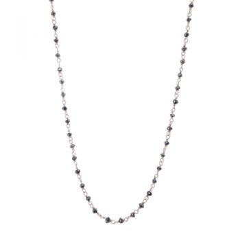 Κολιέ K14 Με Μαύρα Διαμάντια 4ct ΚΟ09065