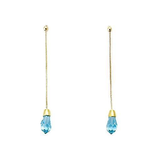 Σκουλαρίκια Χρυσά Κ18 Με Swarovski