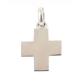 Σταυρός Βαπτιστικός Λευκόχρυσος K14 ΣΟ19016
