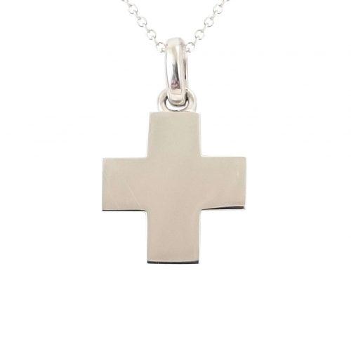Σταυρός Βαπτιστικός Λευκοχρυσός K14 ΣΟ19016