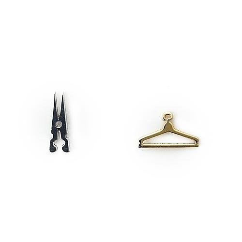 Σκουλαρίκια Δίχρωμα Κ14 Μανταλάκι Κρεμάστρα ΣΚ09503