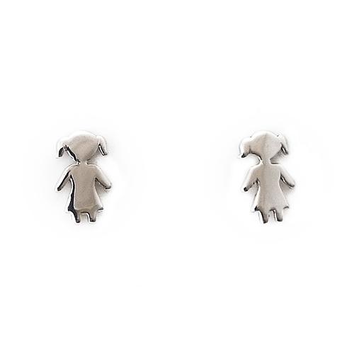 Σκουλαρίκια Λευκόχρυσο Κ14 Κοριτσάκια ΣΚ30007
