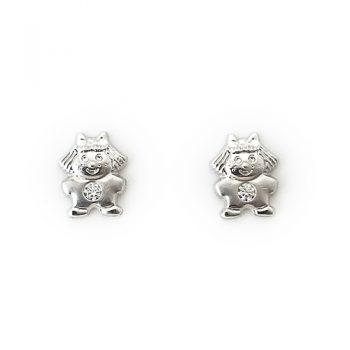 Σκουλαρίκια Λευκόχρυσο Κ14 Κοριτσάκια ΣΚ30012