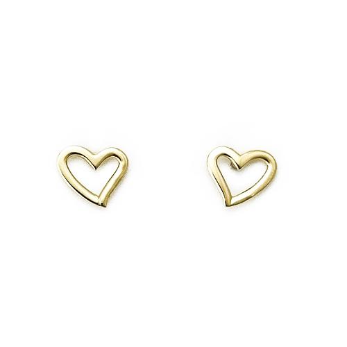 Σκουλαρίκια Χρυσά Κ14 Καρδούλες ΣΚ10023