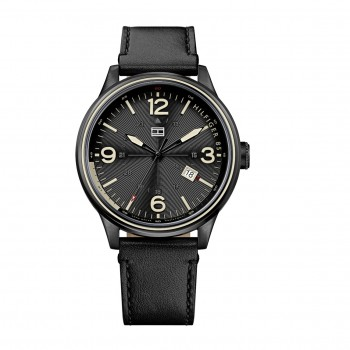 Tommy Hilfiger Black Leather Strap 1791103