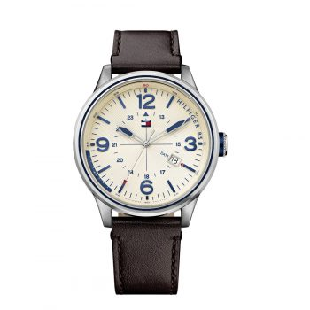 Tommy Hilfiger Peter Brown Leather Strap 1791102