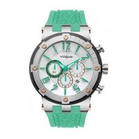 Vogue Feeling Chrono Green Rubber Strap 17001.8