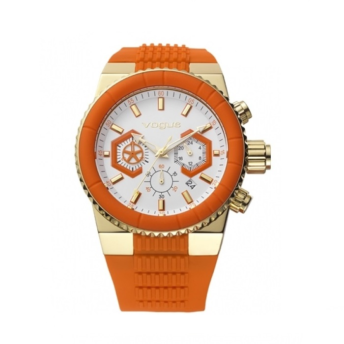 Vogue Med ChronoColor Orange Rubber Strap 150141.4