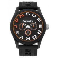 Superdry Black Rubber Strap SYG170B
