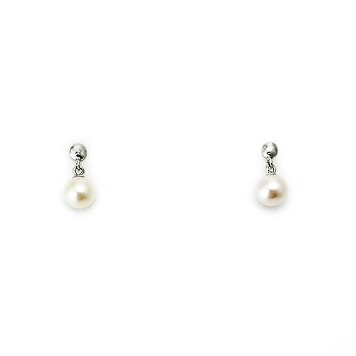 Σκουλαρίκια Λευκόχρυσα Κ14 Μαργαριτάρια ΣΓ10033