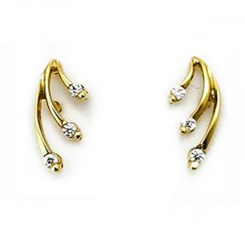 Σκουλαρίκια-Χρυσά-Κ14-Με-Ζιργκόν-ΣΓ10022 1