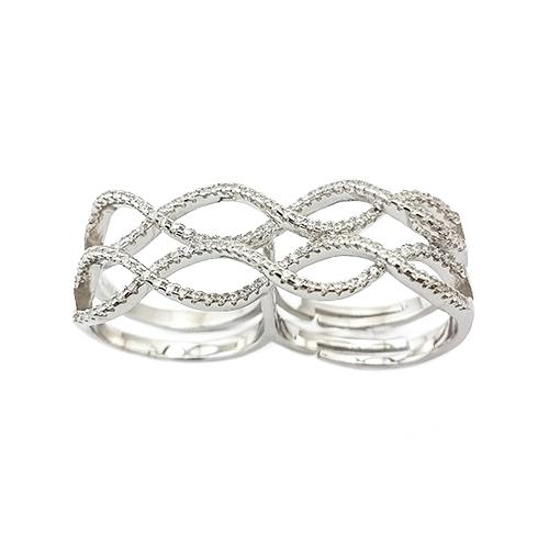 Δαχτυλίδι Ασημένιο Επιπλατινωμένο Με Ζιργκόν ΔΟ20500