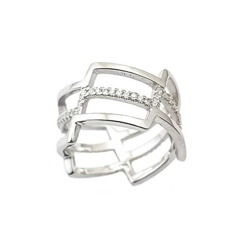 Δαχτυλίδι Ασημένιο Επιπλατινωμένο Με Ζιργκόν ΔΟ20503