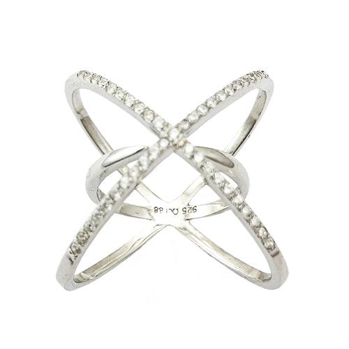 Δαχτυλίδι Ασημένιο Επιπλατινωμένο Με Ζιργκόν ΔΟ20505
