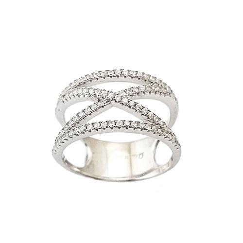 Δαχτυλίδι Ασημένιο Επιπλατινωμένο Με Ζιργκόν ΔΟ20510