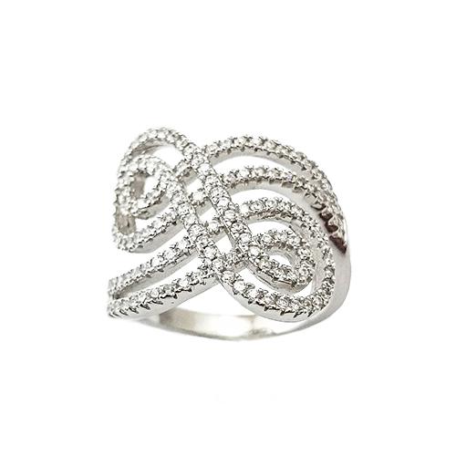 Δαχτυλίδι Ασημένιο Επιπλατινωμένο Με Ζιργκόν ΔΟ20513