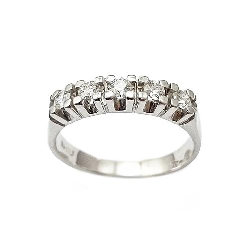 a997687acb Δαχτυλίδι Λευκόχρυσο Κ18 Σειρέ Με Μπριγιάν 0.42ct ΔΟ10755 - gEMELLi