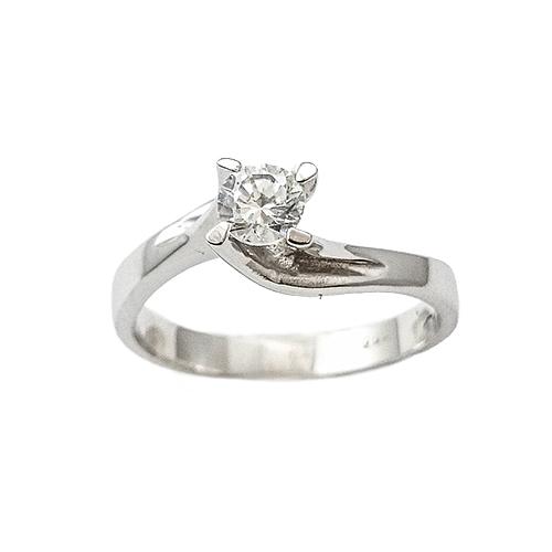 Δαχτυλίδι Μονόπετρο Λευκόχρυσο Κ14 Με Ζιργκόν ΔΟ15002 - gEMELLi 1ff26723a6c