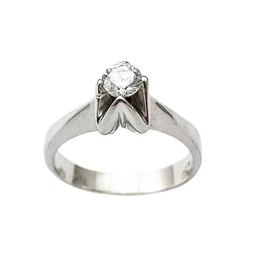 Δαχτυλίδι Μονόπετρο Λευκόχρυσο Κ14 Με Ζιργκόν ΔΟ15015 - gEMELLi ebc0bc67d2f