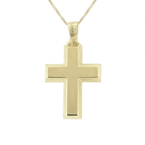 Σταυρός Βαπτιστικός Χρυσός K14 Τριάντος ΣΟ18010