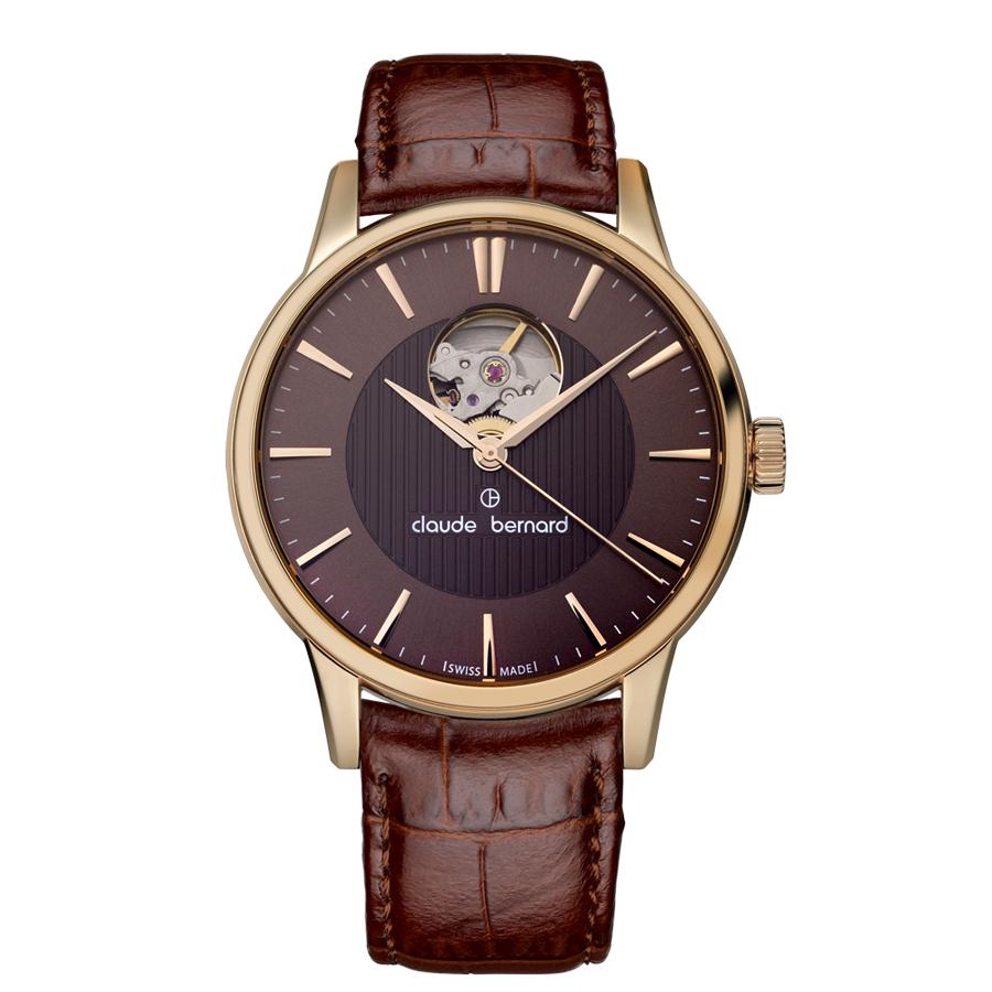 Claude Bernard Classic Automatic Brown Leather Strap 85017 37R BRIR
