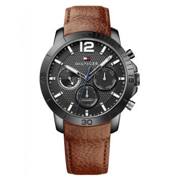 Tommy Hilfiger Holden Brown Leather Strap 1791269