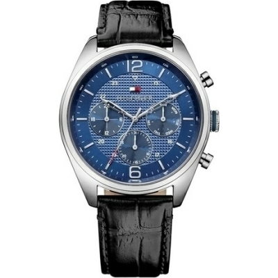 Tommy Hilfiger Corbin Multifunction Black Leather Strap 1791182