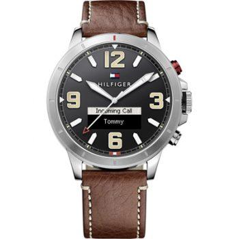Tommy Hilfiger Smartwatch Jackson Watch Brown Leather Strap 1791296