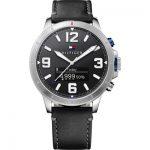 Tommy Hilfiger Smartwatch Jackson Watch Black Leather Strap 1791298