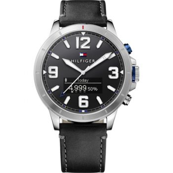 Tommy Hilfiger Smartwatch Jackson Watch Black Leather Strap 1791298