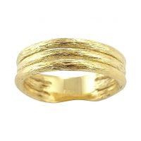 Δαχτυλίδι Κ18 Χρυσό Χειροποίητο Τριπλό ΔΟ10950