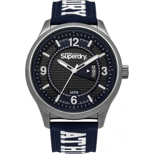 Superdry Yokohama Athletic Blue Rubber Strap SYG171UW