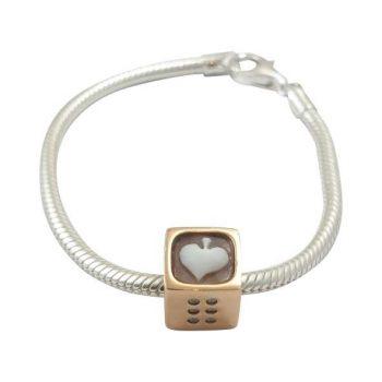 Βραχιόλι Cameo Italiano Ζάρι Καρδιά ΚΙ5095