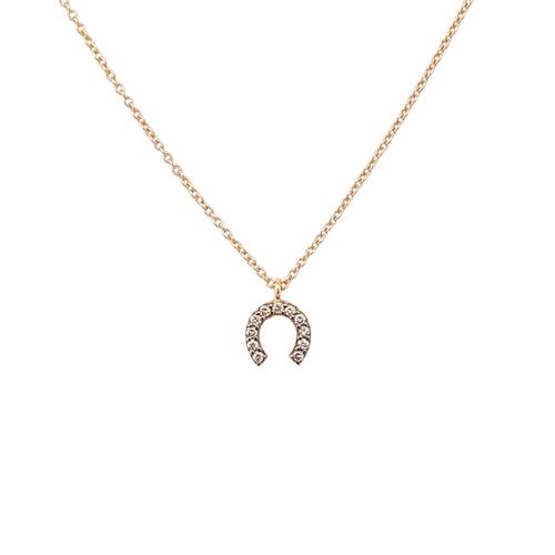 Κολιέ Ροζ Χρυσό Κ18 Πέταλο Με Μπριγιάν 0.06ct ΚΟ09045