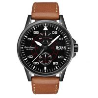 Hugo Boss Pilot Edition Brown Leather Strap 1513517