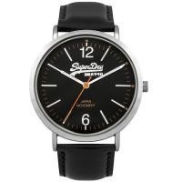 Superdry Oxford Black Leather Strap SYG194B