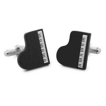 Μανικετόκουμπα OX Μαύρα Πιάνο Μ025145