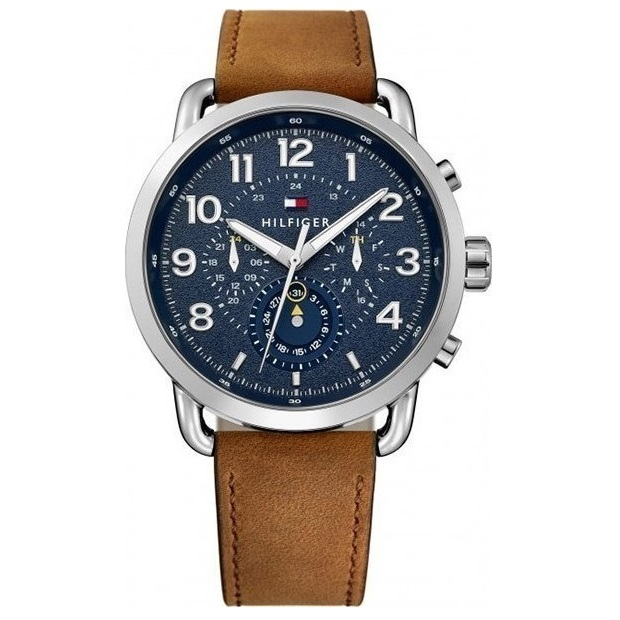 Tommy Hilfiger Briggs Brown Leather Strap 1791424