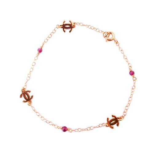 Βραχιόλι Ροζ Χρυσό Κ14 Με Γρανάδα ΒΟ10170 1