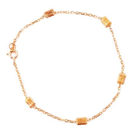 Βραχιόλι Ροζ Χρυσό Κ14 Με Στοιχεία ΒΟ10185