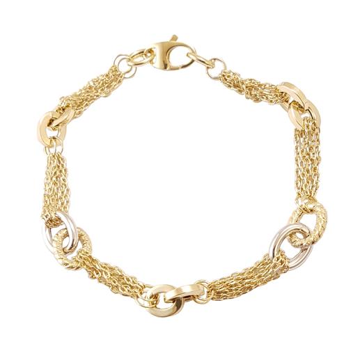 Βραχιόλι Χρυσό Και Λευκόχρυσο Κ14 ΒΟ10015