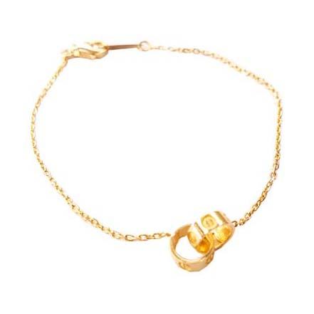 Βραχιόλι Χρυσό Κ14 Με Κρίκους ΒΟ10050 1