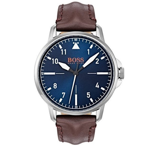 Hugo Boss Orange Brown Leather Strap 1550060