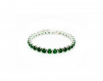 Βραχιόλι Le Carose Ριβιέρα Με Πράσινα Ζιργκόν ΚΟ90200