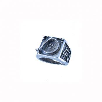 Δαχτυλίδι Ασημένιο Με Πικάπ ΔΟ60010